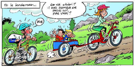 Erfahrung - Dessin cycliste humoristique ...